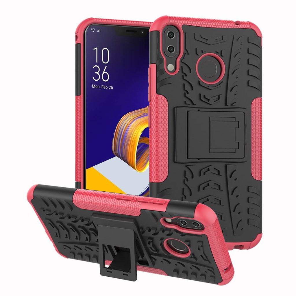 Bilde av Asus Zenfone 5z Beskyttelses Deksel Av Hybrid Materiale Med Dekk Mønster - Rose