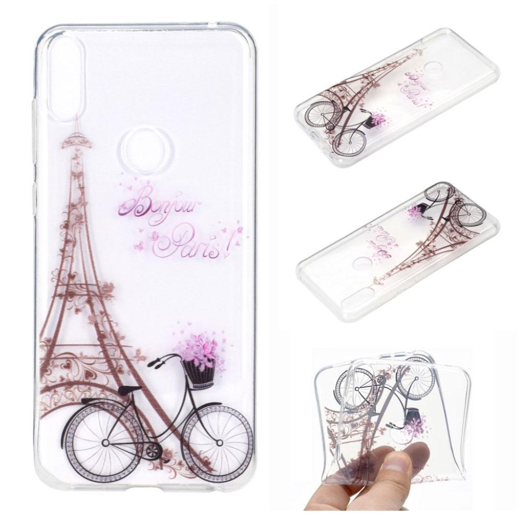Bilde av Deco Asus Zenfone Max Pro (m2) Case - Eiffel Tower And Bicycle