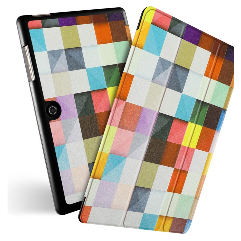 Bilde av Acer Iconia One 10 - B3-a50 Pattern Leather Case - Colorful Grids