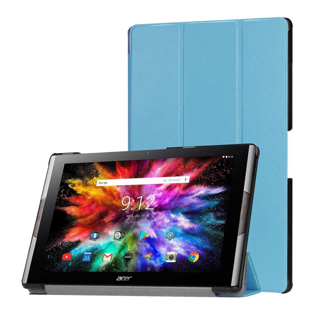 Bilde av Acer Iconia One 10 A3-a50 Tri-fold Leather Case - Baby Blue