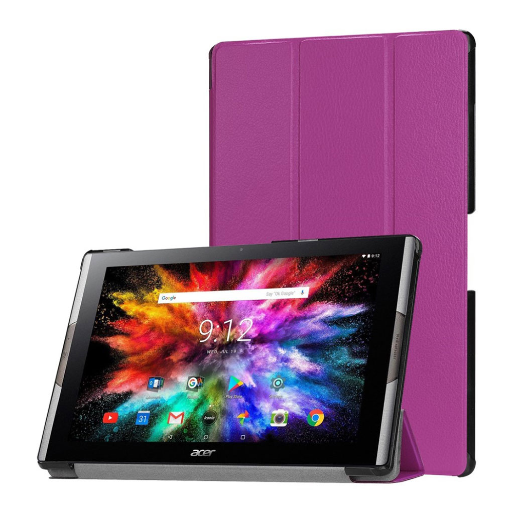 Bilde av Acer Iconia One 10 A3-a50 Tri-fold Leather Case - Purple