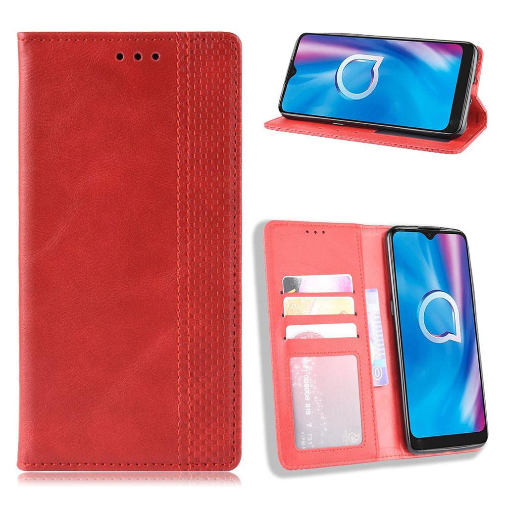 Bilde av Bofink Vintage Alcatel 1se (2020) Leather Case - Red