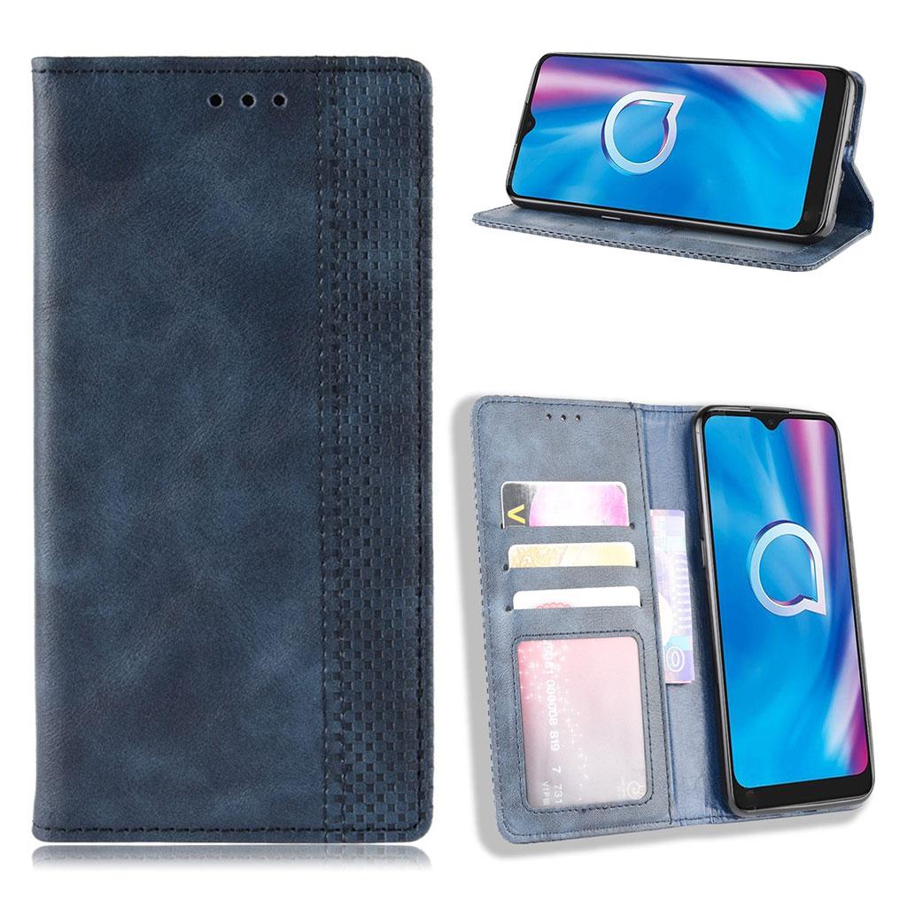 Bilde av Bofink Vintage Alcatel 1se (2020) Leather Case - Blue