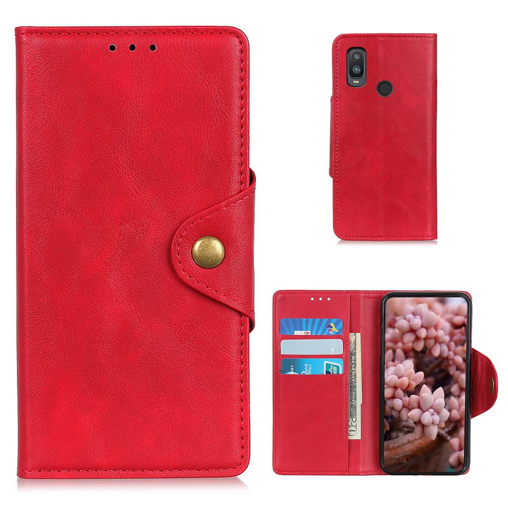 Bilde av Alpha Alcatel 1l (2021) Flip Case - Red