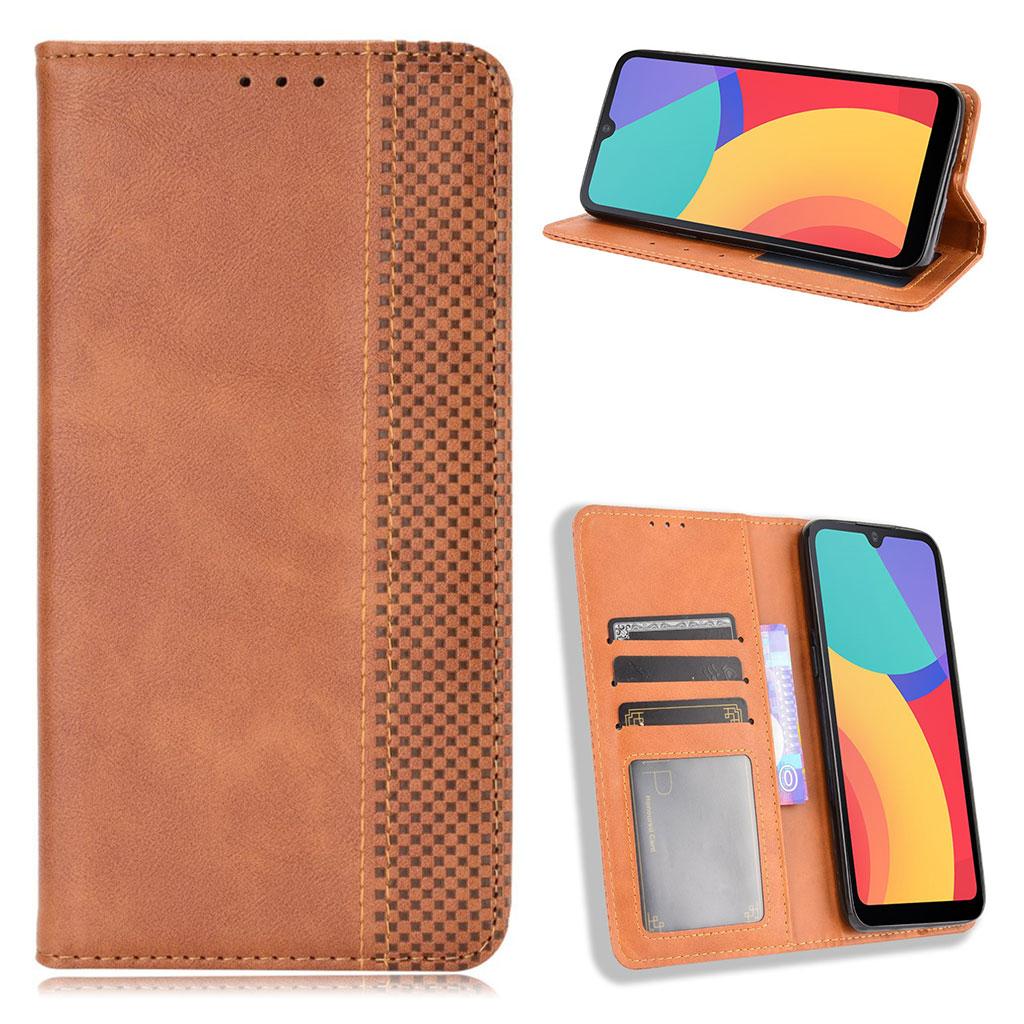 Bilde av Bofink Vintage Alcatel 1l (2021) Leather Case - Brown