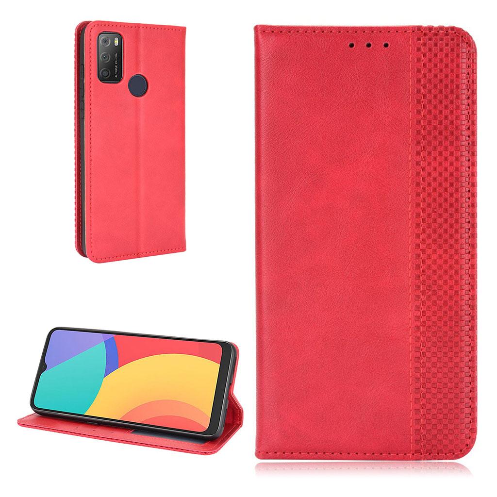 Bilde av Bofink Vintage Alcatel 3l (2021) / 1s (2021) Leather Case - Red