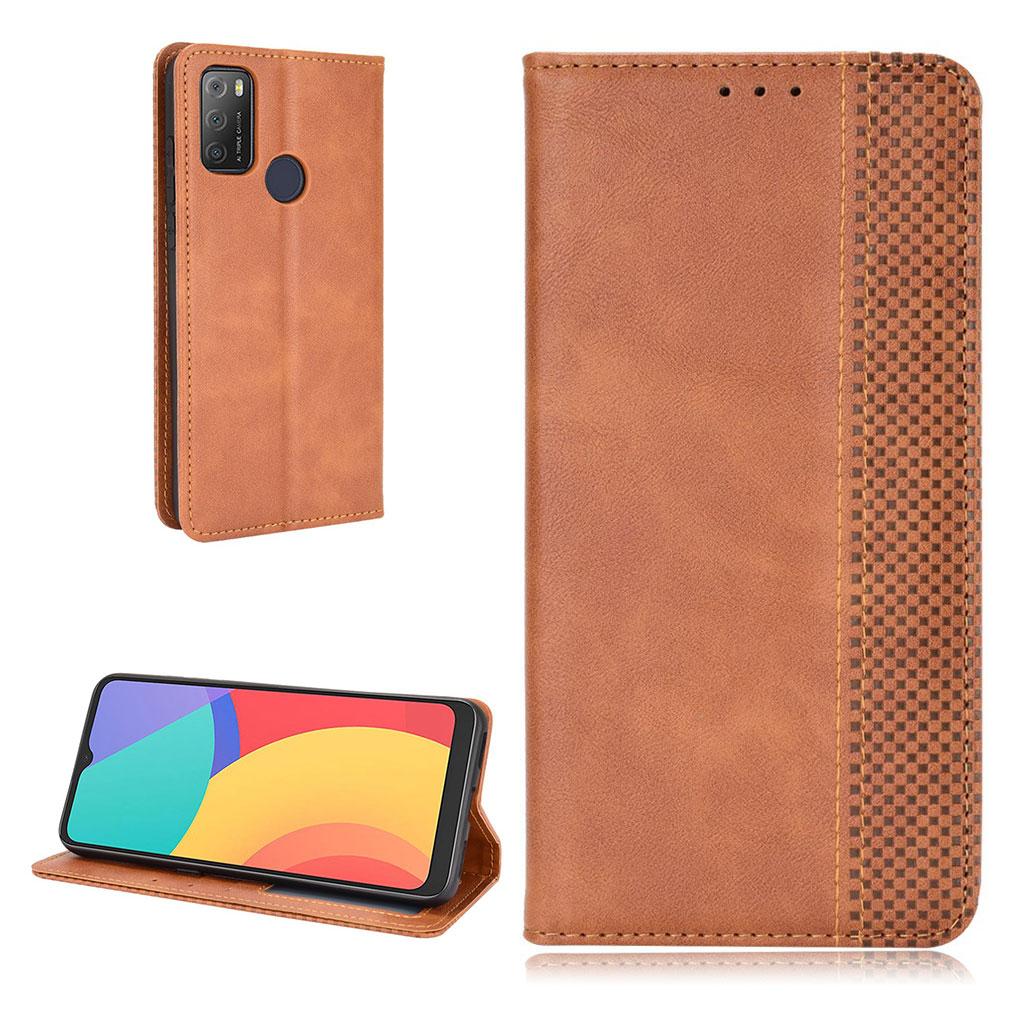 Bilde av Bofink Vintage Alcatel 3l (2021) / 1s (2021) Leather Case - Brown