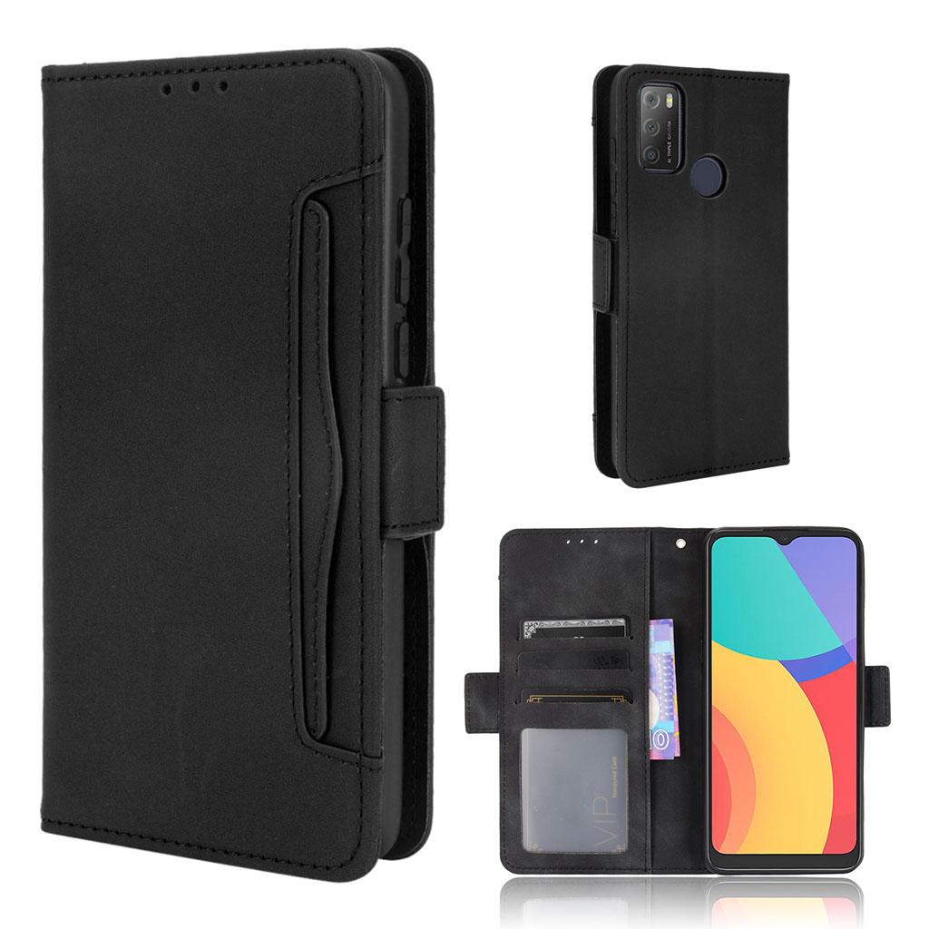 Bilde av Modern-styled Leather Wallet Case For Alcatel 3l (2021) / 1s (2021) - Black