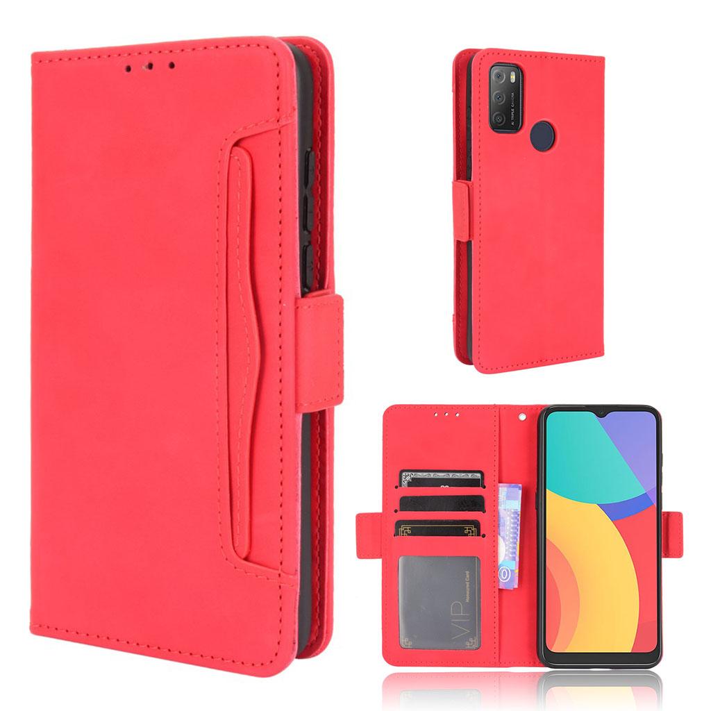 Bilde av Modern-styled Leather Wallet Case For Alcatel 3l (2021) / 1s (2021) - Red