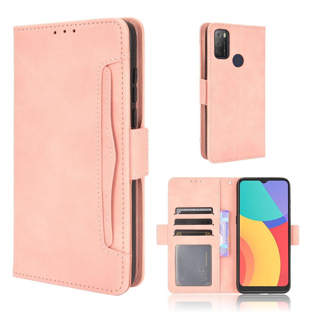 Bilde av Modern-styled Leather Wallet Case For Alcatel 3l (2021) / 1s (2021) - Pink