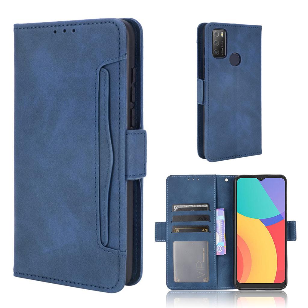 Bilde av Modern-styled Leather Wallet Case For Alcatel 3l (2021) / 1s (2021) - Blue