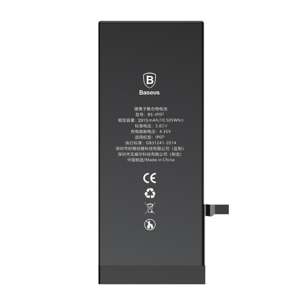 Bilde av Baseus Iphone 6 Plus Batteri 2915mah - Svart