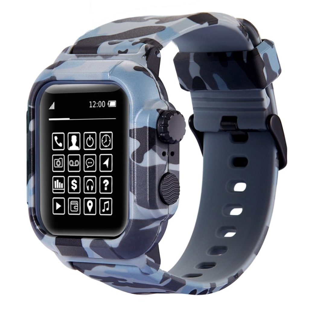 Bilde av Apple Watch Series 3/2/1 42mm Armor Camo Silicone Watch Band - Camouflage