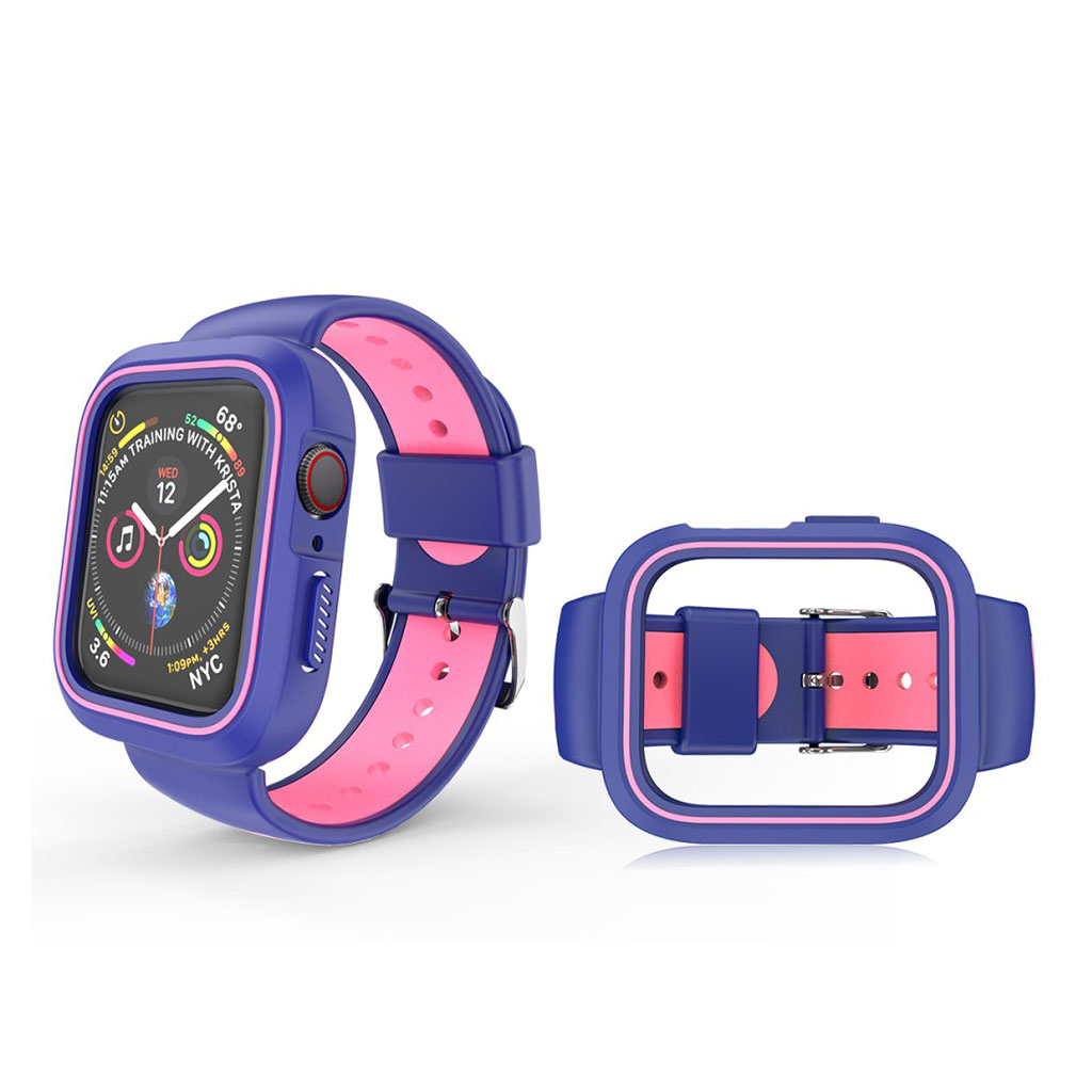 Bilde av Apple Watch 42mm Two-tone Silicone Watch Band - Blue / Pink