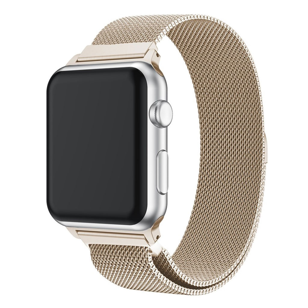 Bilde av Apple Watch 38mm Unique Stainless Steel Watch Band - Champagne Silver