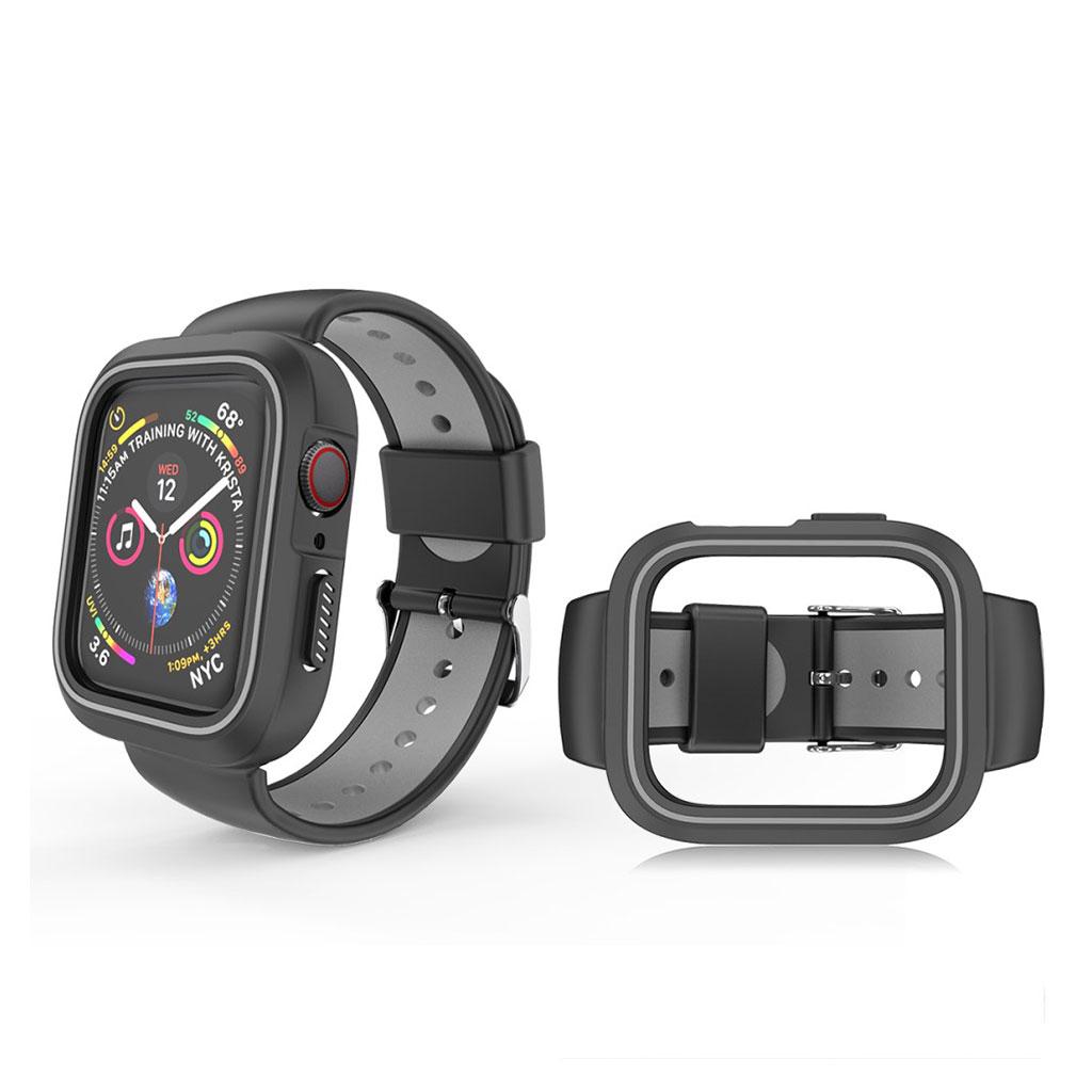 Bilde av Apple Watch 38mm Bi-color Silicone Frame And Watch Band - Black / Grey