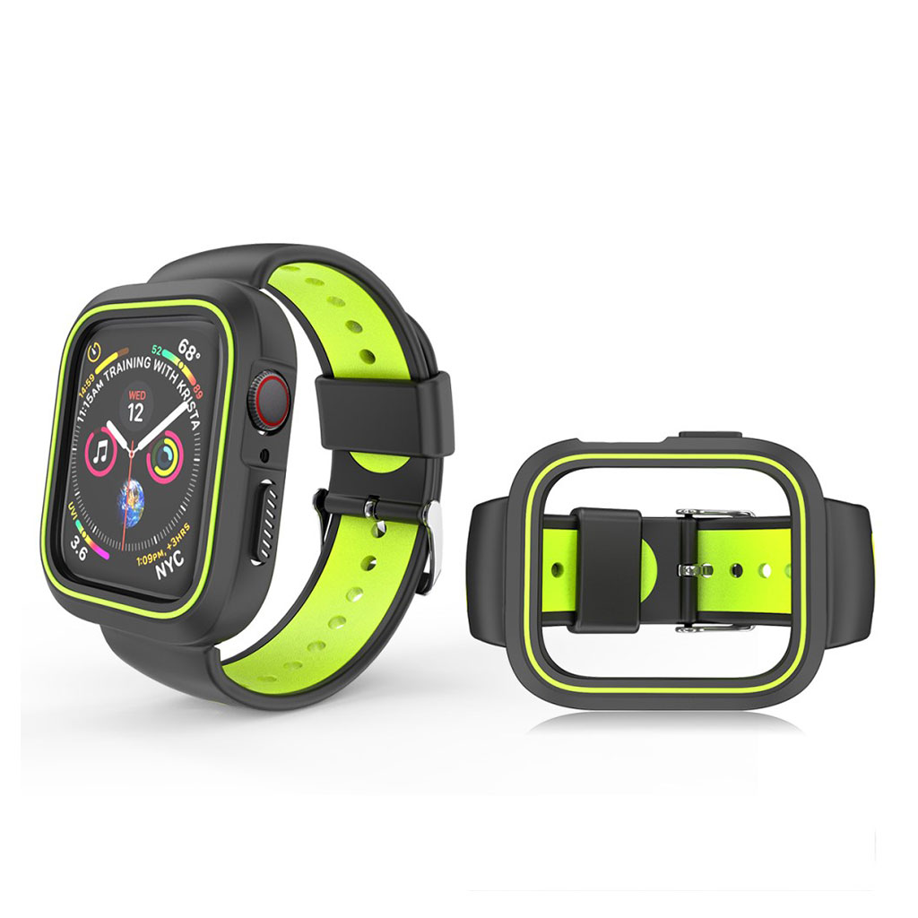 Bilde av Apple Watch 38mm Bi-color Silicone Frame And Watch Band - Black / Yellow