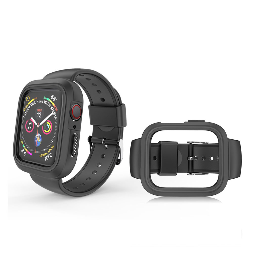 Bilde av Apple Watch 38mm Bi-color Silicone Frame And Watch Band - All Black