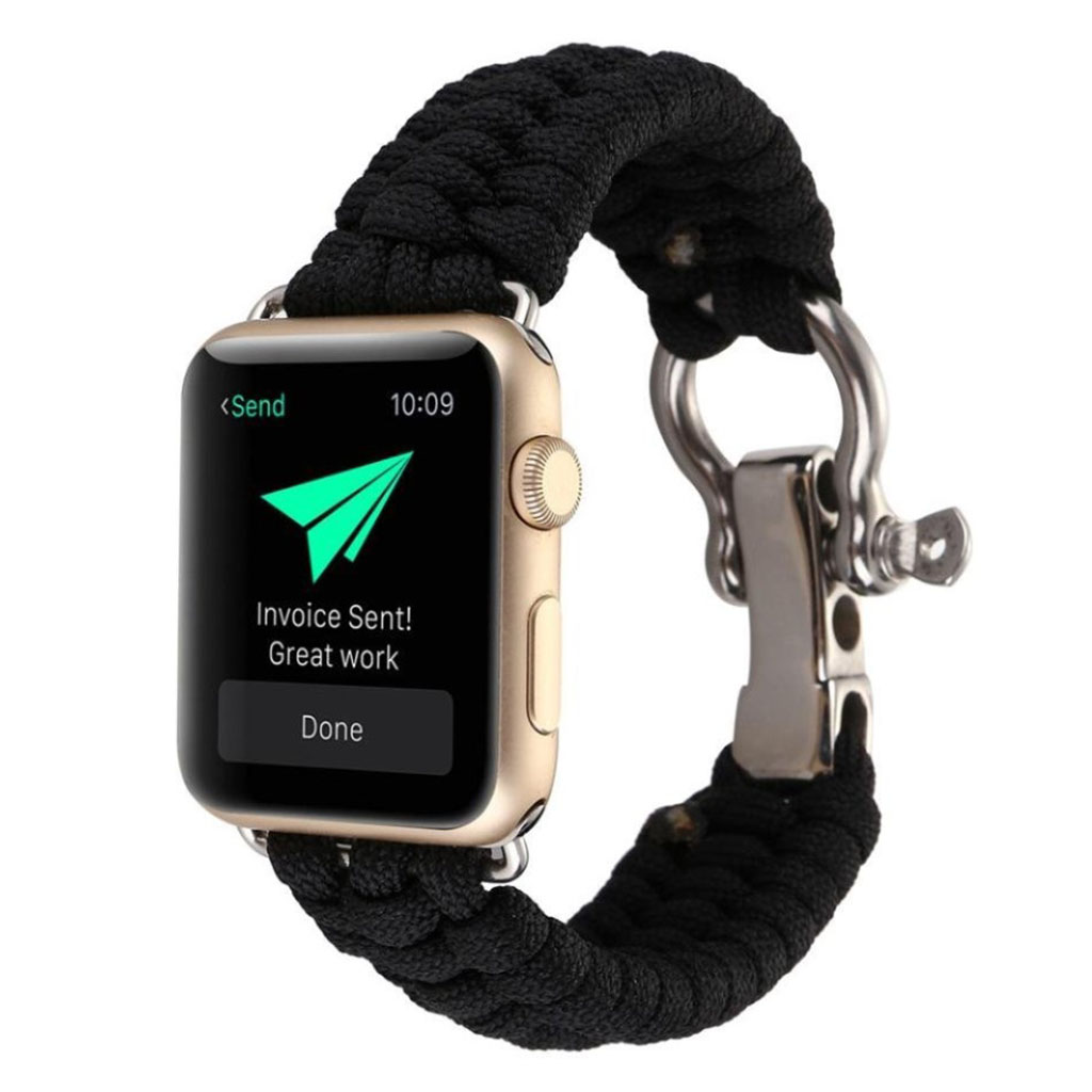 Bilde av Apple Watch Series 4 40mm Braided Rope Watch Strap - All Black