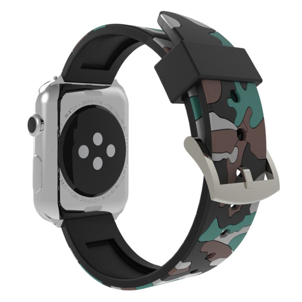 Bilde av Apple Watch Series 4 40mm Camouflage Silicone Watch Band - Grey