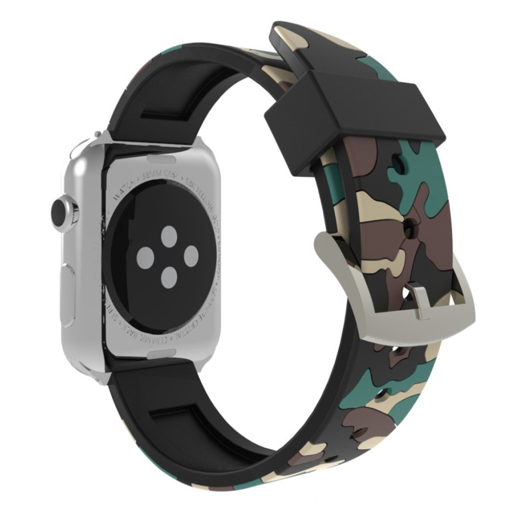 Bilde av Apple Watch Series 4 40mm Camouflage Silicone Watch Band - Khaki