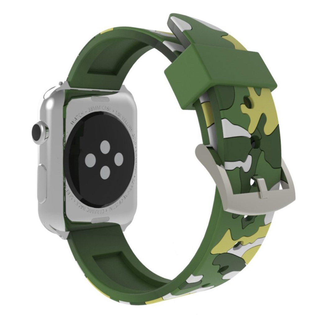 Bilde av Apple Watch Series 4 40mm Camouflage Silicone Watch Band - Green