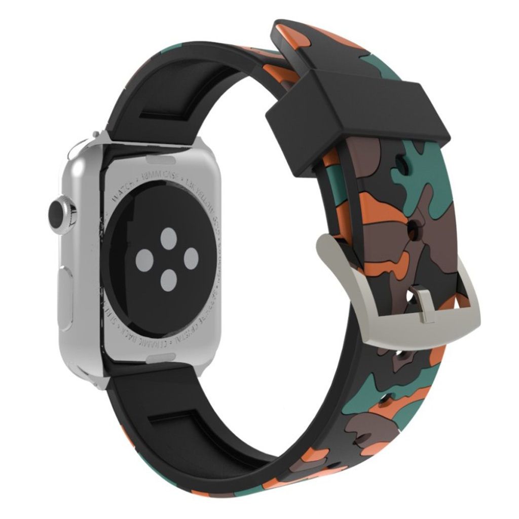 Bilde av Apple Watch Series 4 40mm Camouflage Silicone Watch Band - Orange