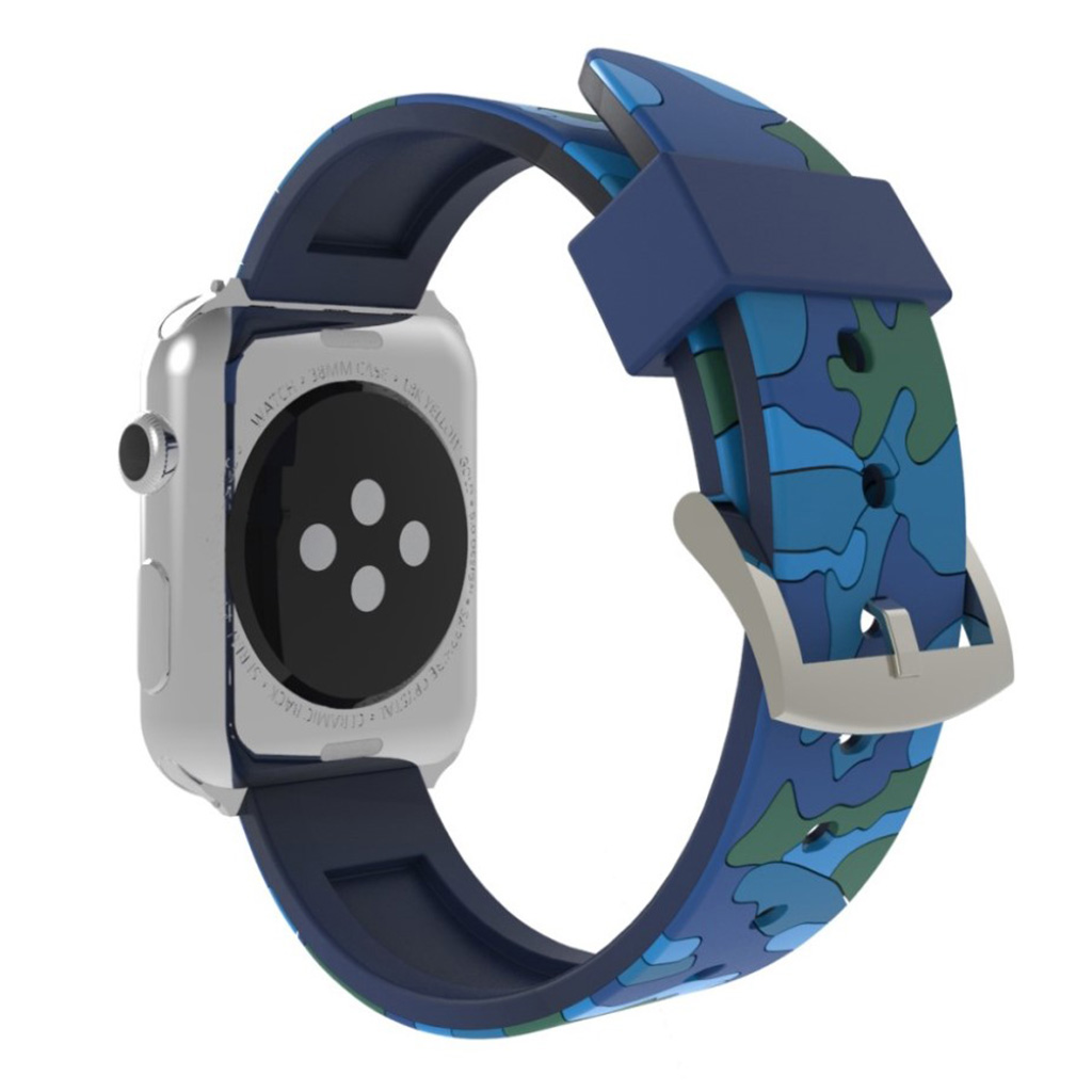 Bilde av Apple Watch Series 4 40mm Camouflage Silicone Watch Band - Blue
