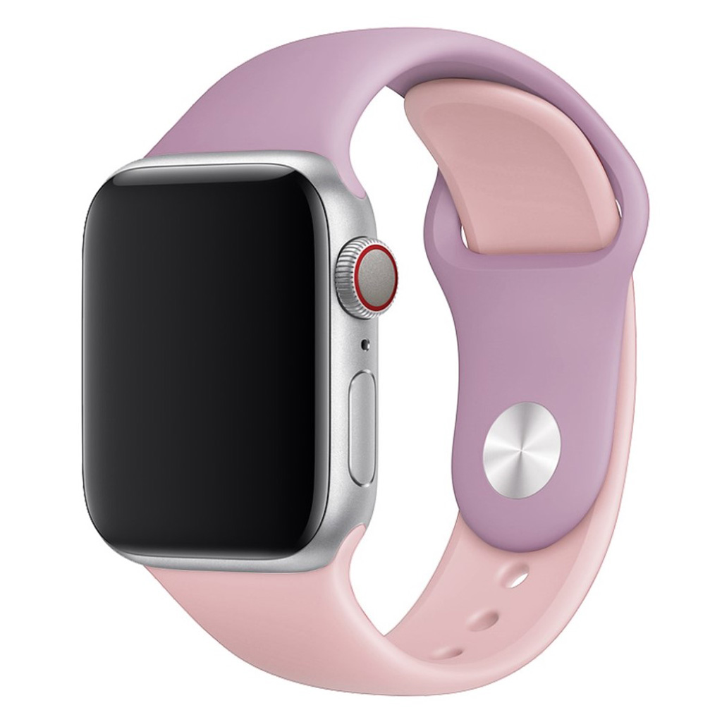 Bilde av Apple Watch Series 4 40mm Contrast Colors Silicone Watch Band - Purple / Pink