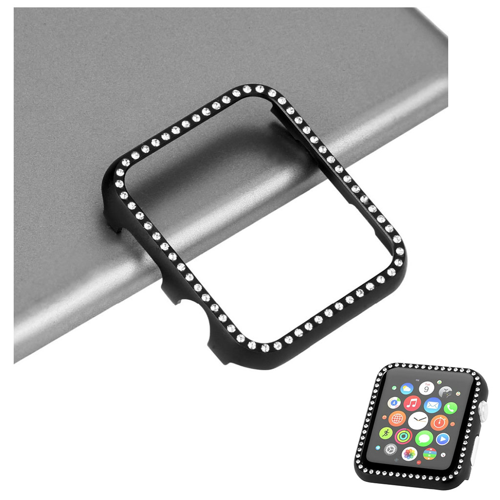 Bilde av Apple Watch Series 4 40mm Aluminum Frame Diamond Case - Black