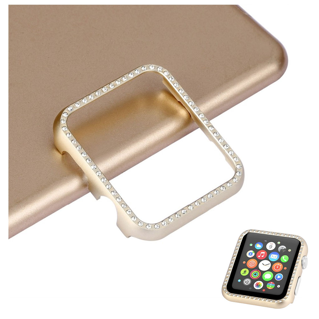 Bilde av Apple Watch Series 4 40mm Aluminum Frame Diamond Case - Gold