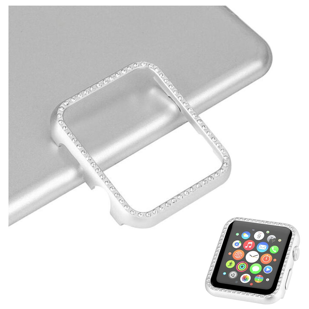 Bilde av Apple Watch Series 4 40mm Aluminum Frame Diamond Case - Silver