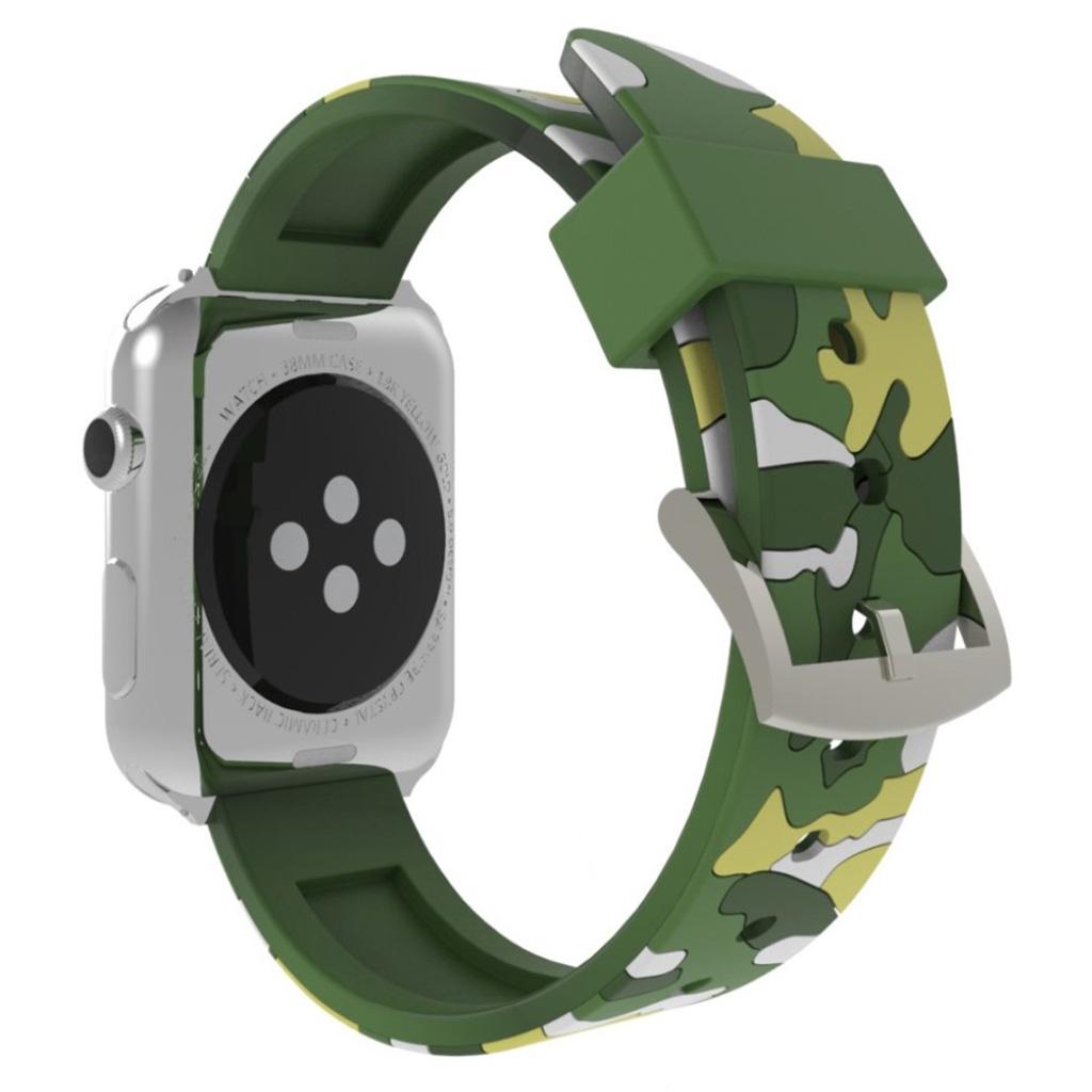 Bilde av Apple Watch Series 4 44mm Camouflage Silicone Watch Band - Green