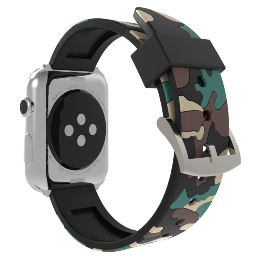 Bilde av Apple Watch Series 4 44mm Camouflage Silicone Watch Band - Khaki