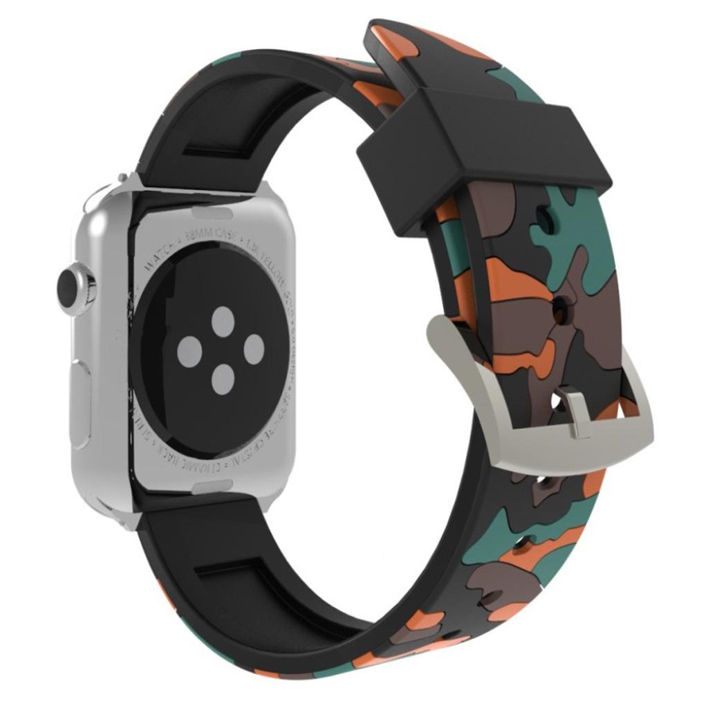 Bilde av Apple Watch Series 4 44mm Camouflage Silicone Watch Band - Orange