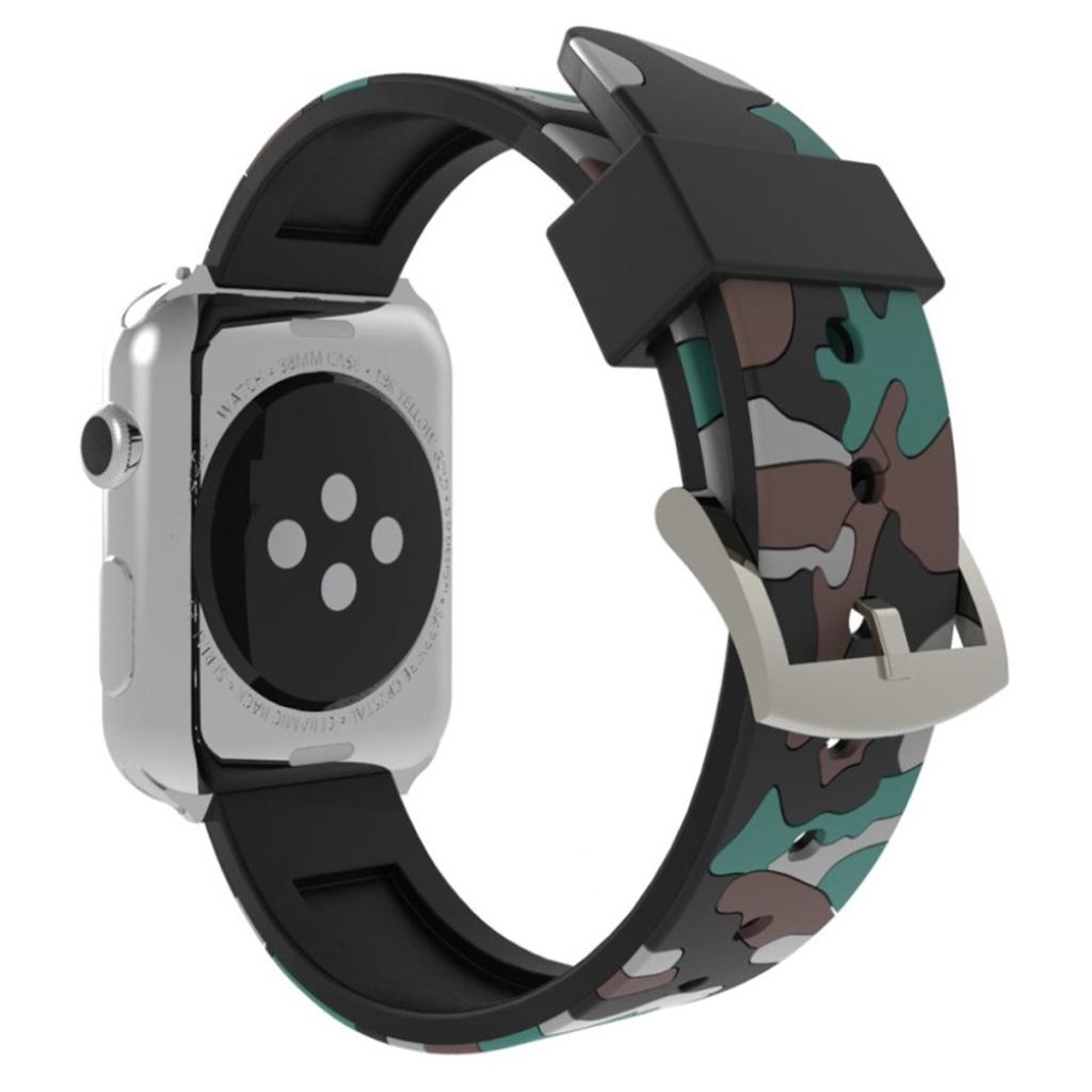 Bilde av Apple Watch Series 4 44mm Camouflage Silicone Watch Band - Grey
