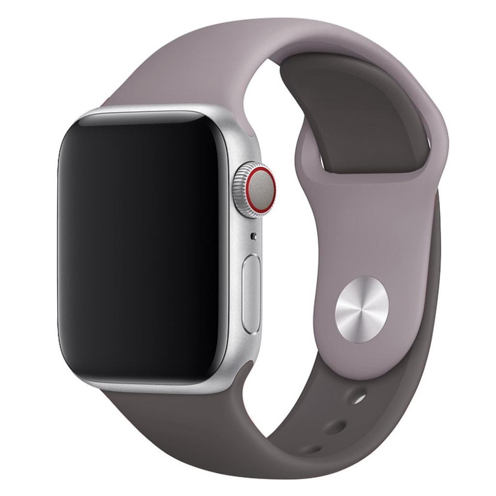 Bilde av Apple Watch Series 4 44mm Contrast Colors Silicone Watch Band - Grey / Coffee