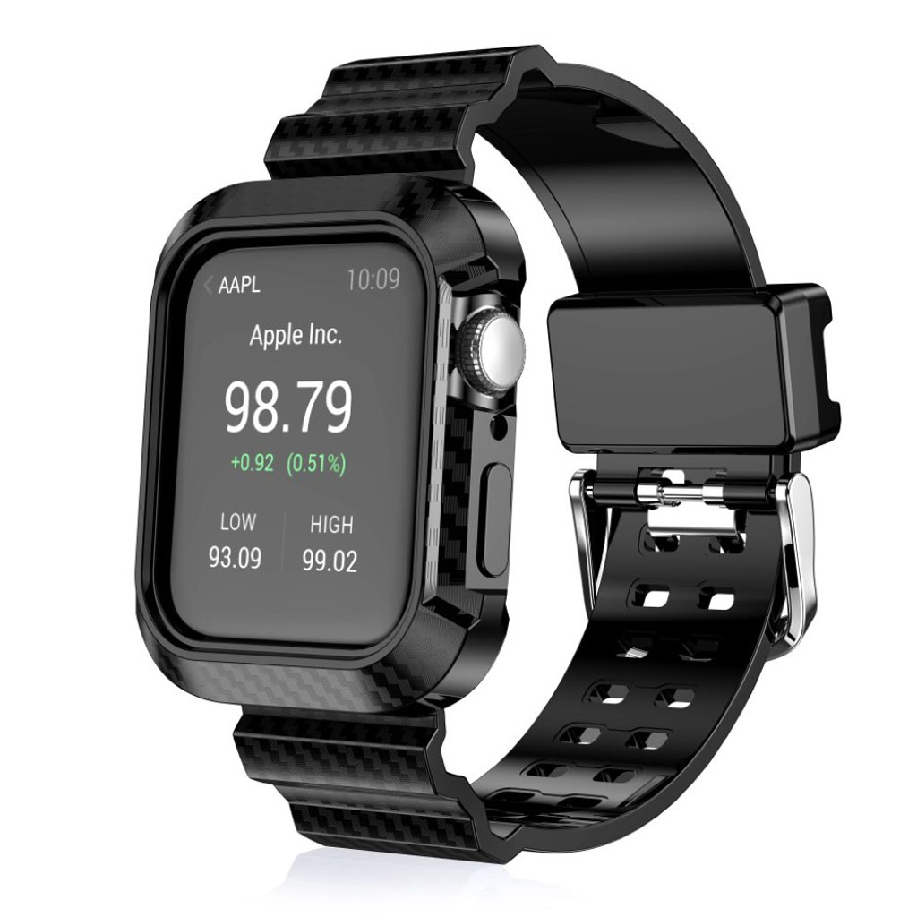 Bilde av Apple Watch Series 4 44mm Carbon Fiber Rugged Watch Band - Black