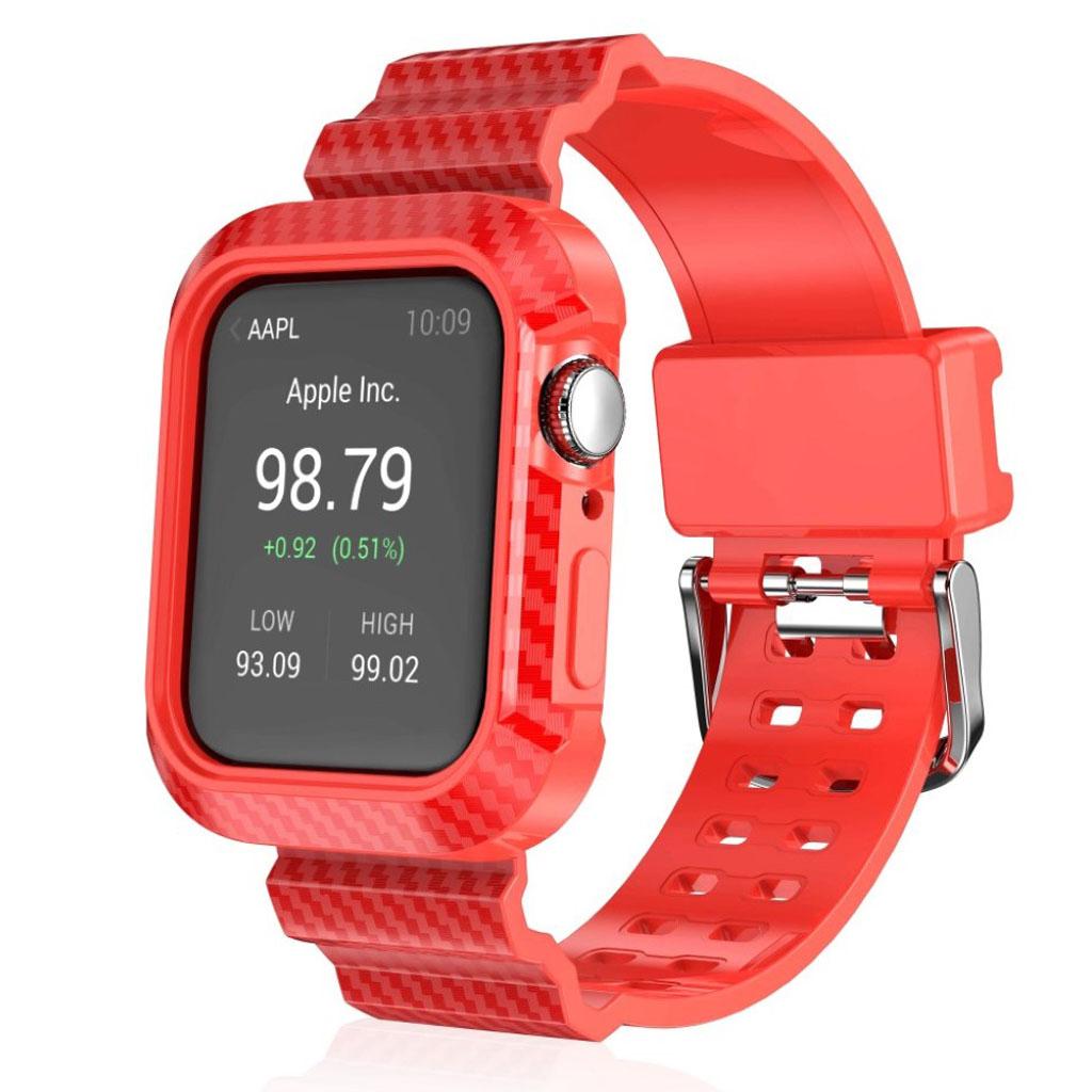 Bilde av Apple Watch Series 4 44mm Carbon Fiber Rugged Watch Band - Red