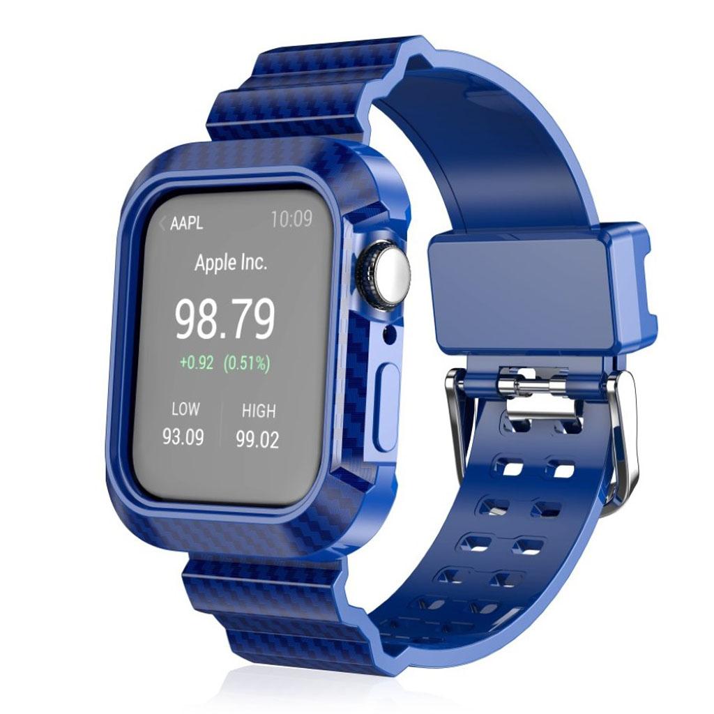 Bilde av Apple Watch Series 4 44mm Carbon Fiber Rugged Watch Band - Blue