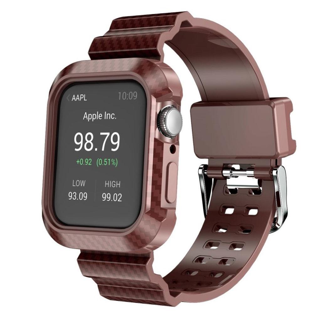 Bilde av Apple Watch Series 4 44mm Carbon Fiber Rugged Watch Band - Brown