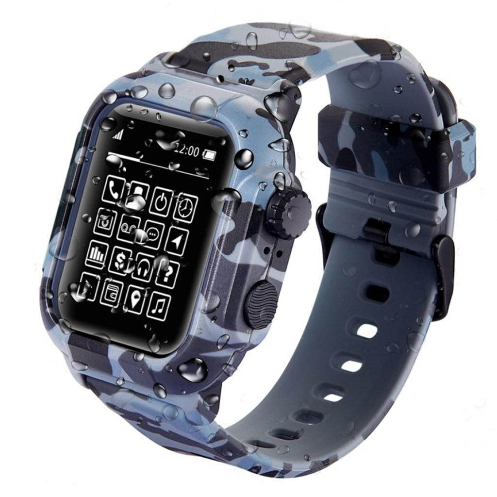 Bilde av Apple Watch Series 4 44mm Armor Silicone Watch Band - Camouflage