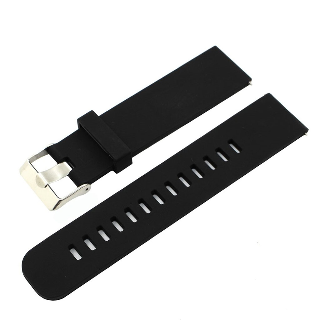 Bilde av 18mm Asus Zenwatch 2 Small Silicone Watch Band - Black