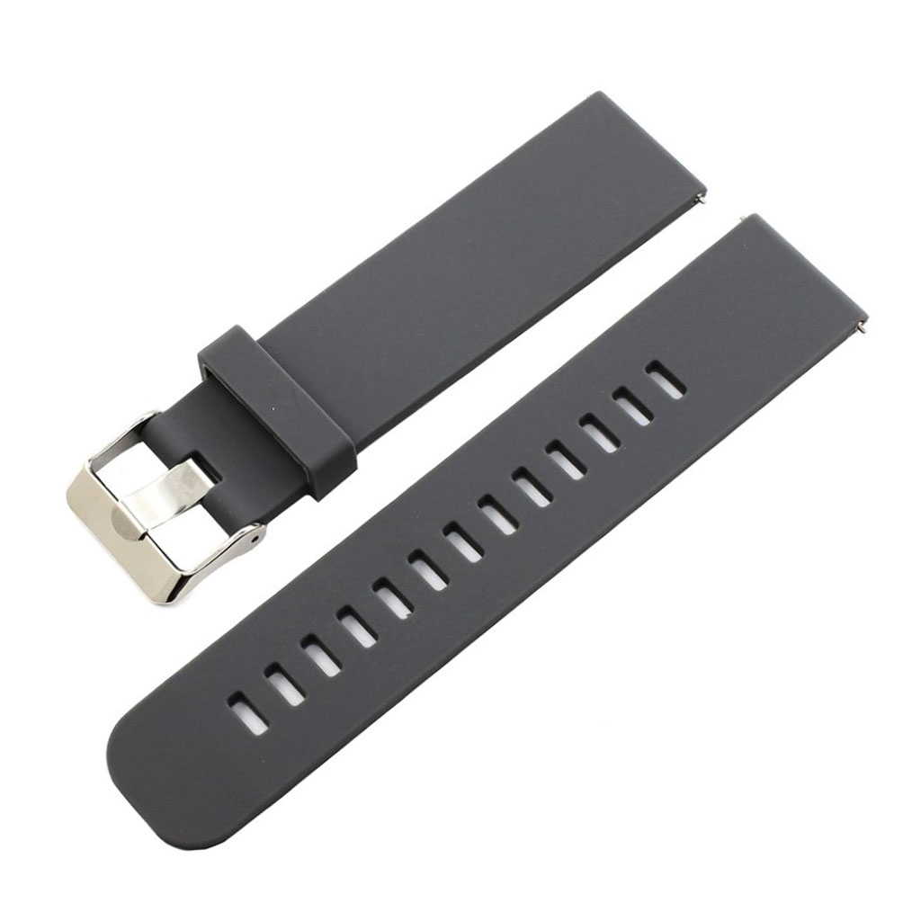 Bilde av 18mm Asus Zenwatch 2 Small Silicone Watch Band - Grey