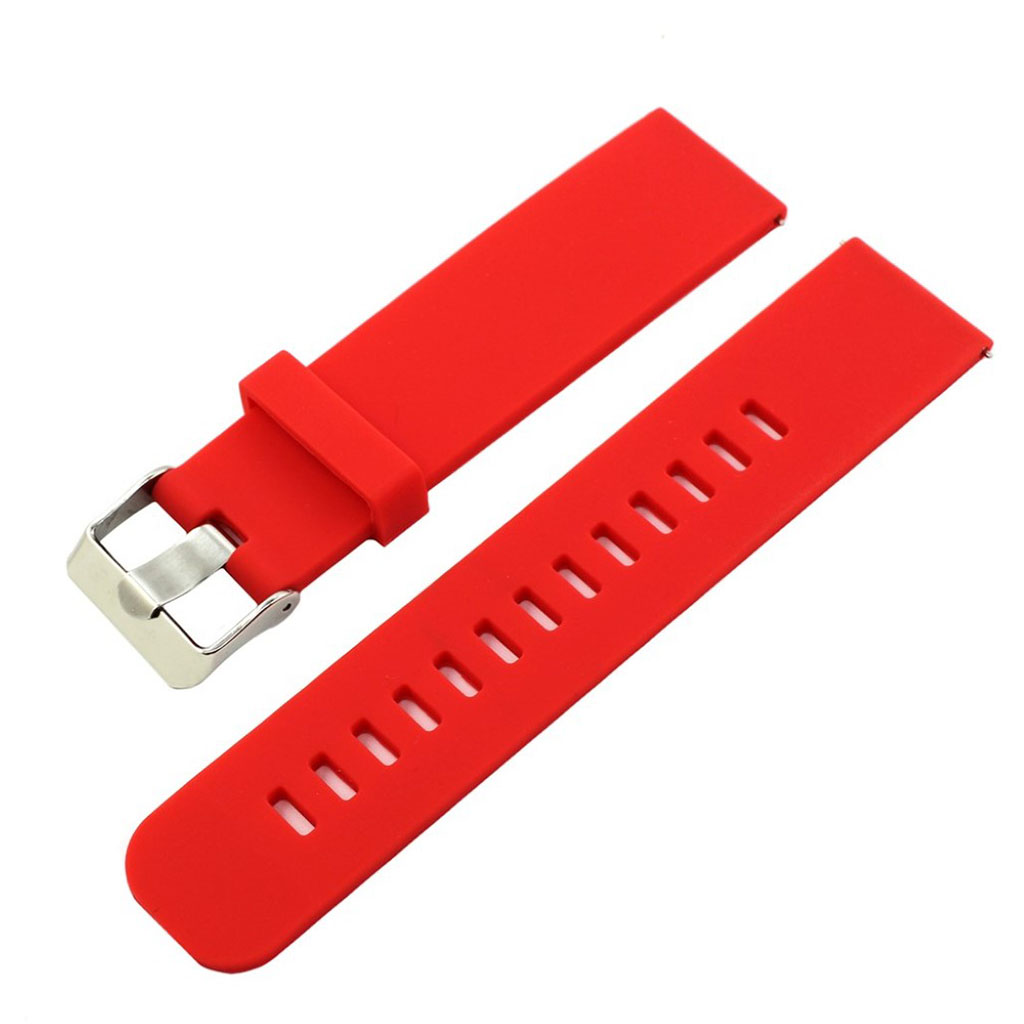 Bilde av 18mm Asus Zenwatch 2 Small Silicone Watch Band - Red