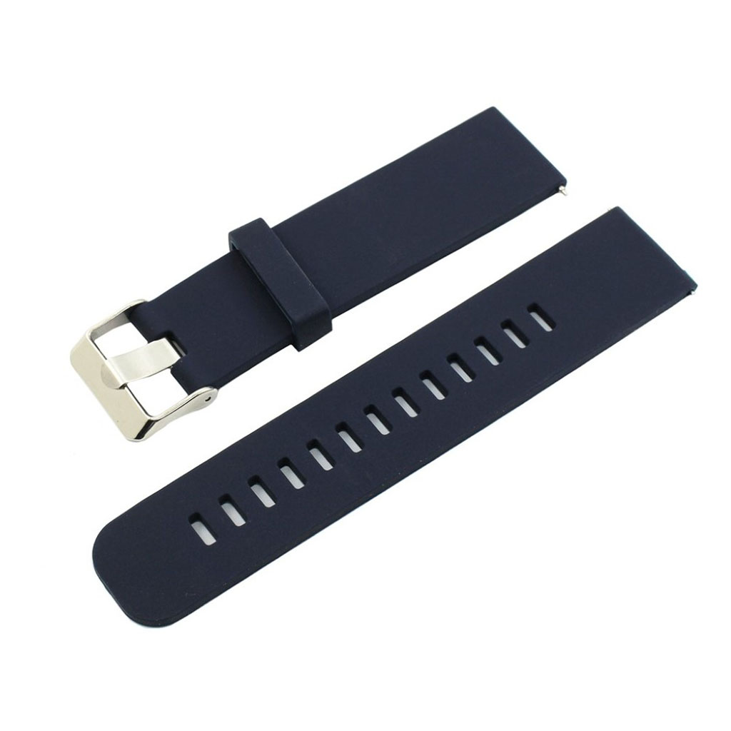Bilde av 18mm Asus Zenwatch 2 Small Silicone Watch Band - Dark Blue