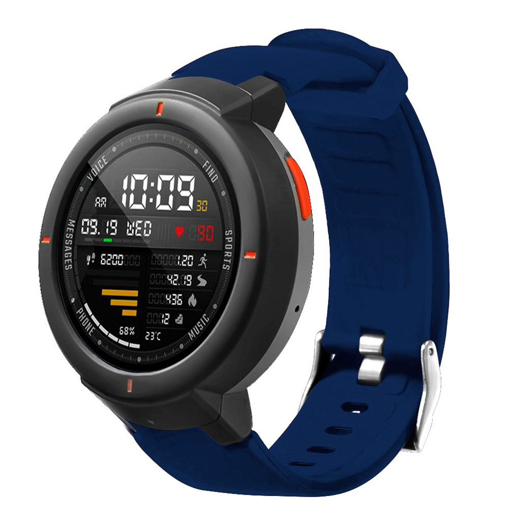 Bilde av Amazfit Verge 3 Silicone Watch Band - Dark Blue