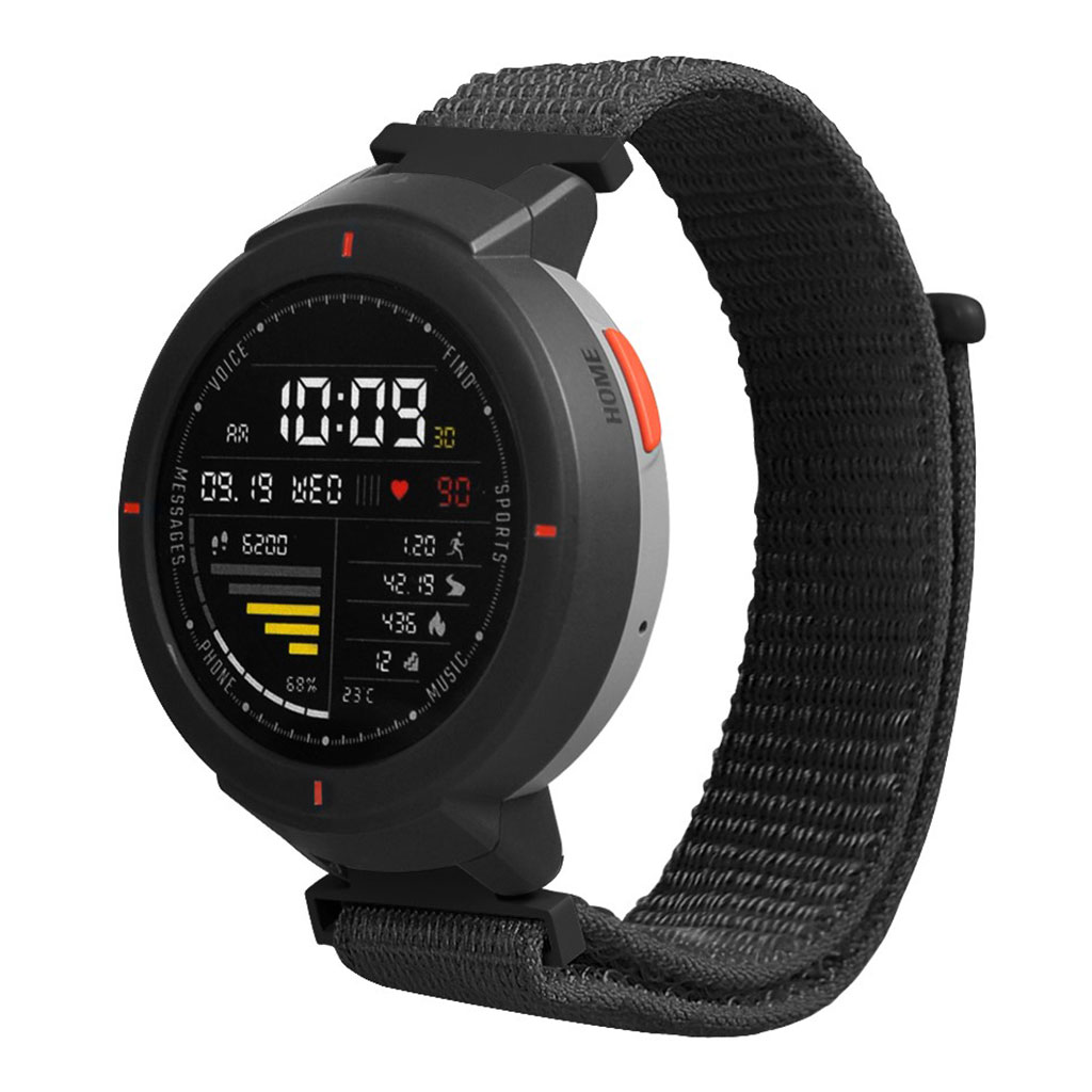 Bilde av Amazfit Verge 3 Velcro Nylon Watch Band - Black