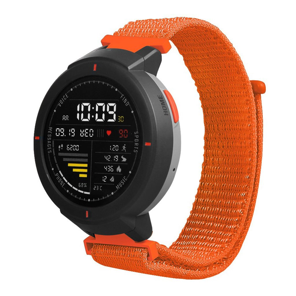 Bilde av Amazfit Verge 3 Velcro Nylon Watch Band - Orange